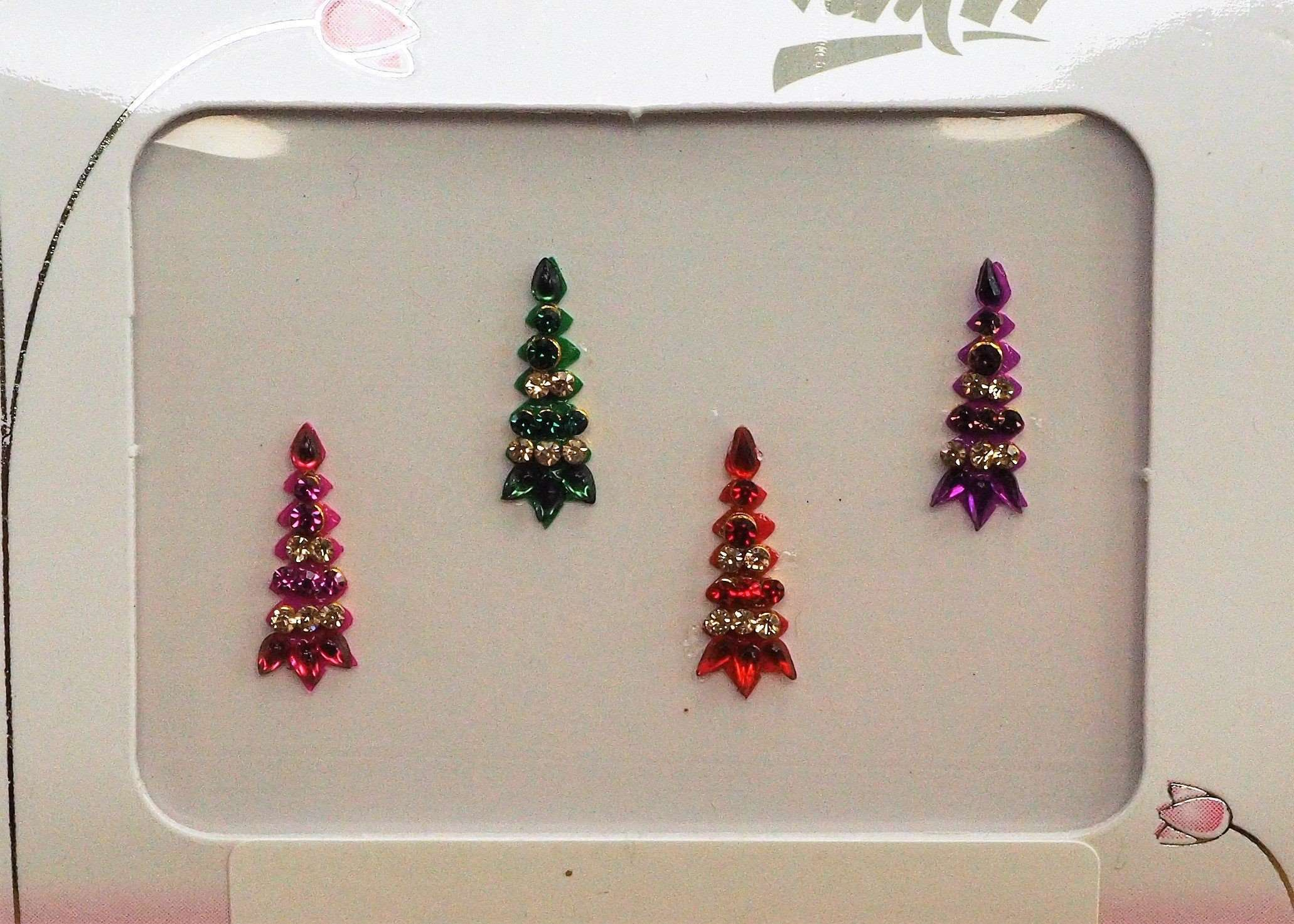 BollywoodParty - Pack of 4 Medium Bindis - Party, fancy dress TN17036K 1017