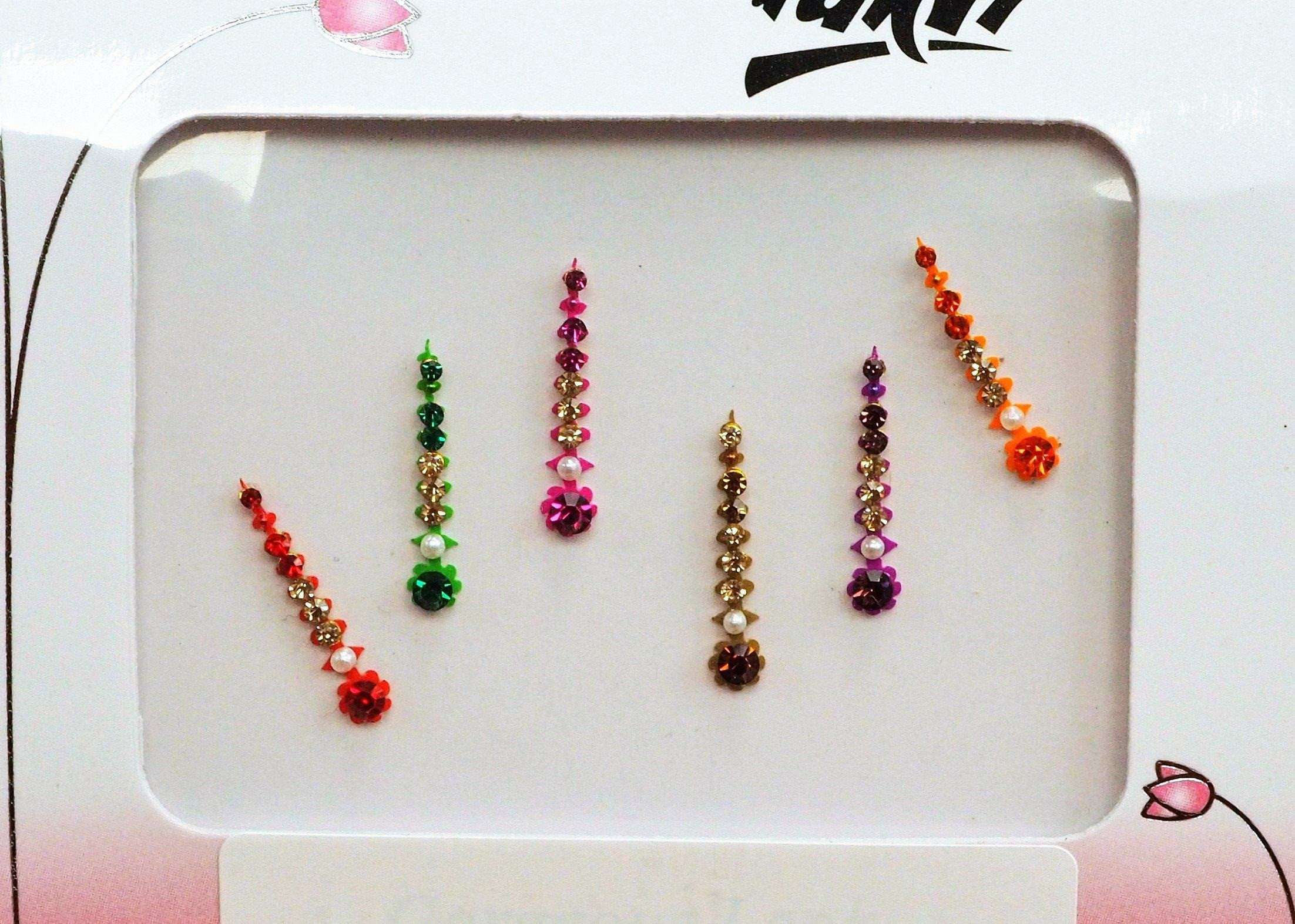 BollywoodParty - Pack of 4 Medium Bindis - Party, fancy dress TN17040K 1017 - Prachy Creations