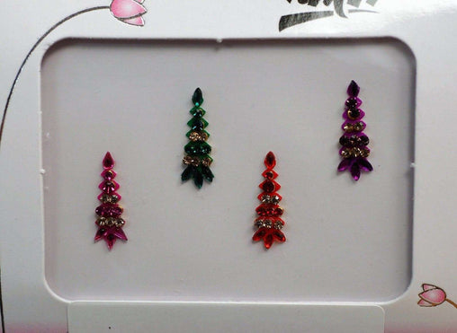 Prachy Creations : BollywoodParty - Pack of 4 Medium Bindis - Party, fancy dress TN17042K 1017