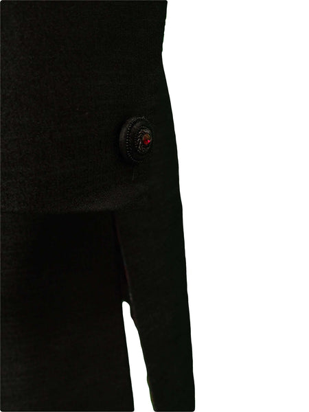 Mens Black Sherwani set - With red Churidar trousers - Bollywood Party Weddings - VFEW852RC