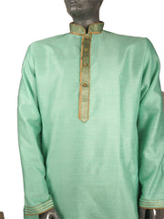 Mens Indian Kurta set in Sea Green , for weddings, Bollywood Party (with trousers) - YD1911 KV0819