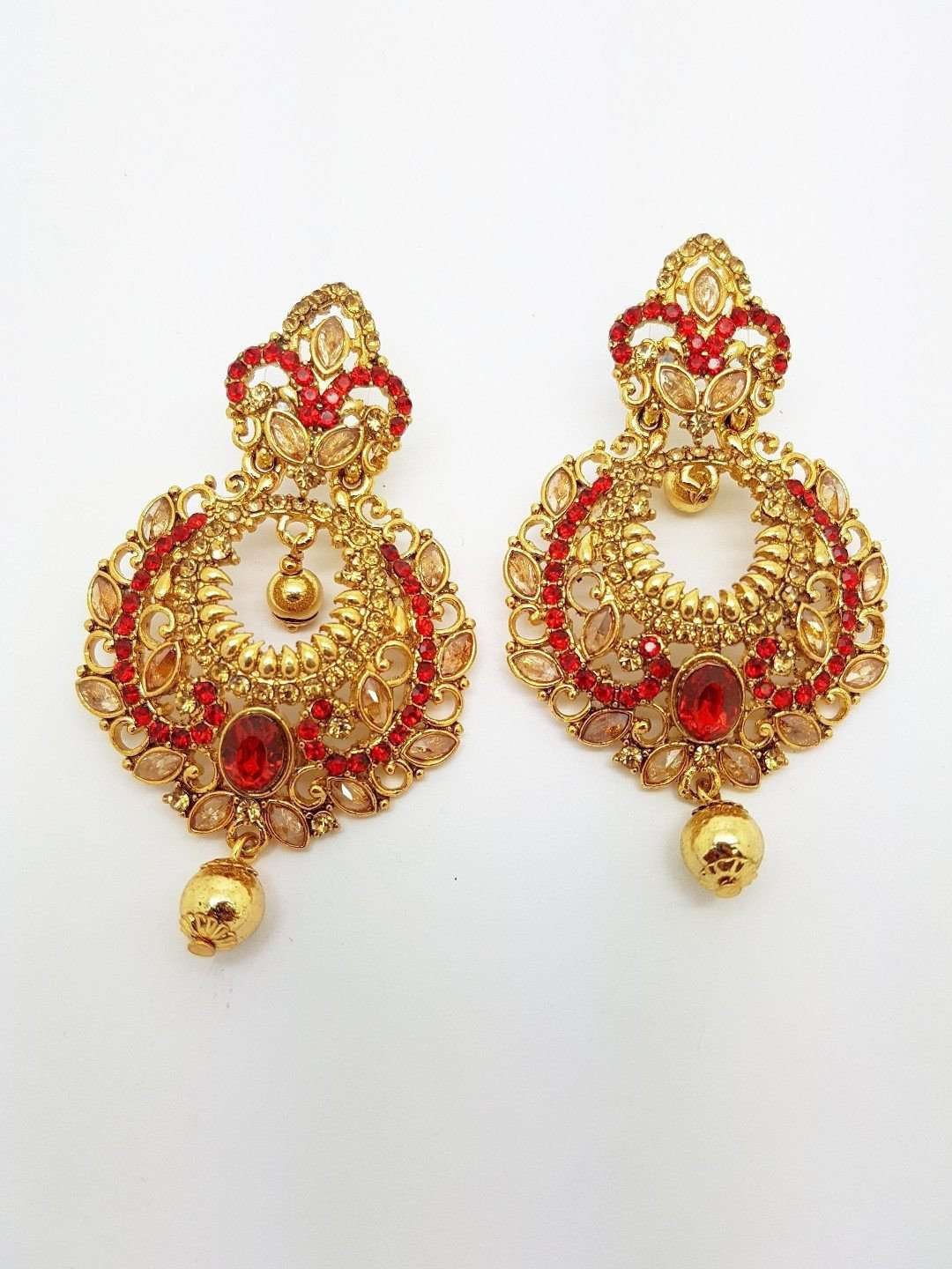 DC-ER122 AP - Indian hand made Earrings - Prachy Creations