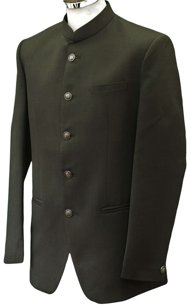 Prachy Creations : Mens Black BandhGala / Nehru Jacket - Linen - Fantastic Fit - BGJ1801JP