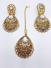 Bridal Indian Fashion Jewellery set - with necklace, earrings and Tika Dc8769 VA - - Prachy Creations