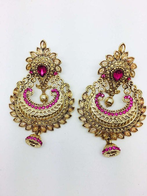 Prachy Creations : Finest Indian hand made Earrings, Bollywood, Fancy dress - DC-ER121H