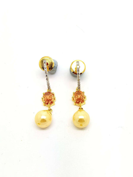AD GG1011 vp - Small cute Cubic Zirconia Earrings at great price, bollywood, Gift for her - Prachy Creations