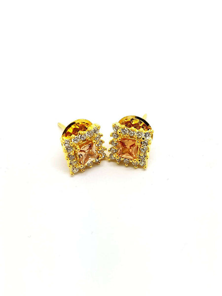 AD GG1015 v- Cubic Zirconia stud Earrings - Prachy Creations