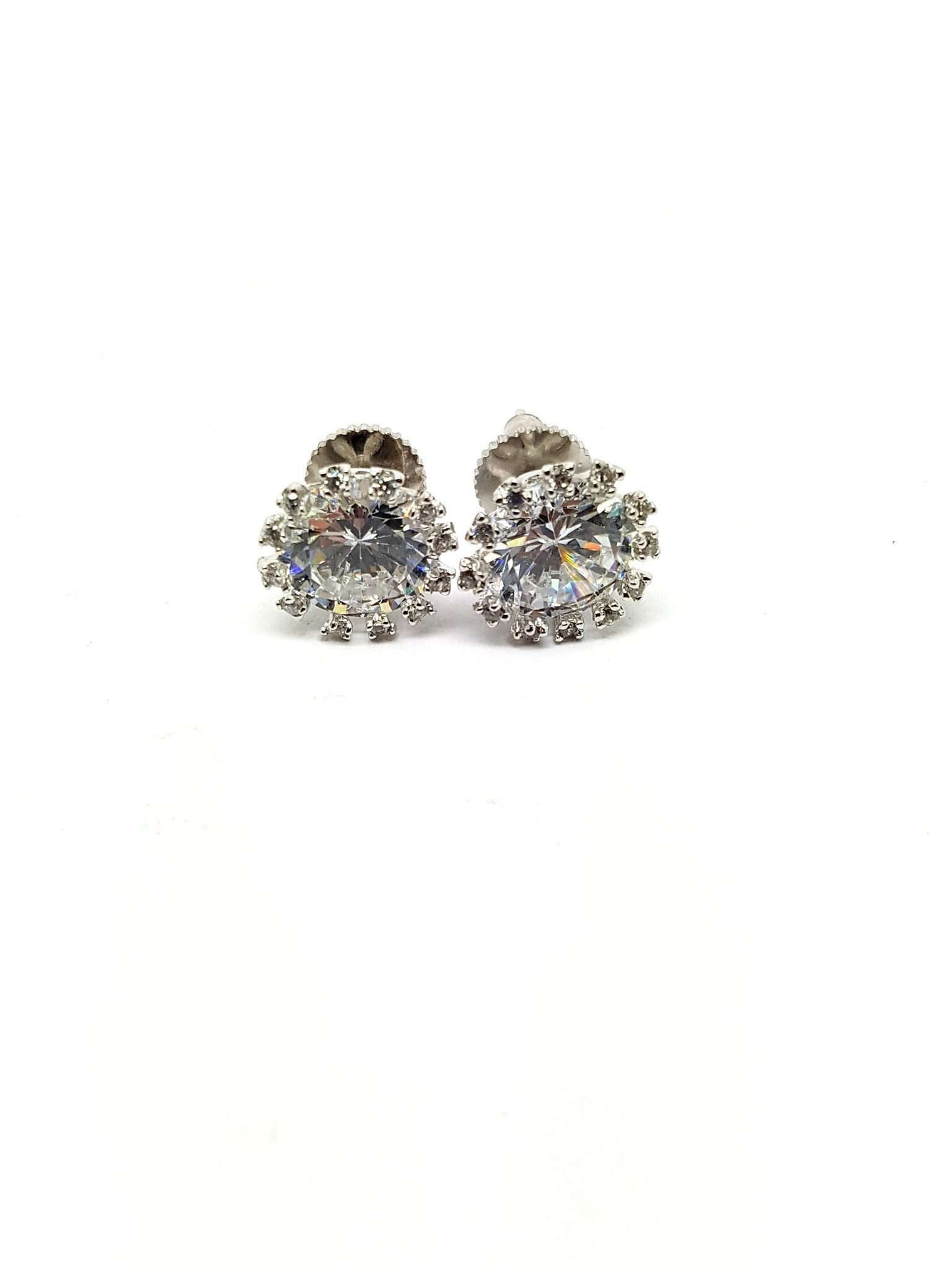 AD GG1016 vp - Cubic Zirconia Stud Earrings at amazing value, party, gift - Prachy Creations