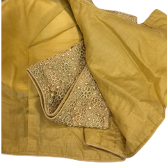 Gold Sequence Embroidered Saree blouse - AF1936 KT1219 - Prachy Creations