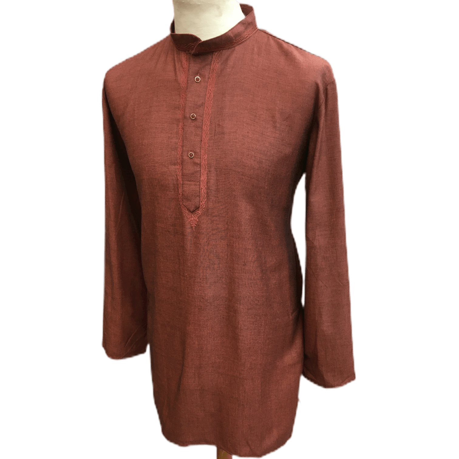 Mens Indian Dhoti Kurta Top in Peanut Pink, Thigh Length, for weddings, Bollywood Party  - Corsa Cp1219 - Prachy Creations