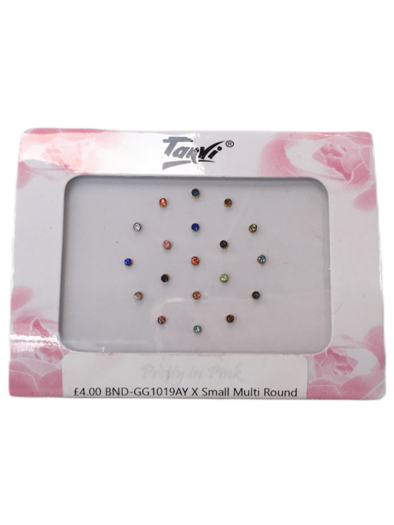 Pack of 19 X Sm stone Bindi GG1019ay - Prachy Creations