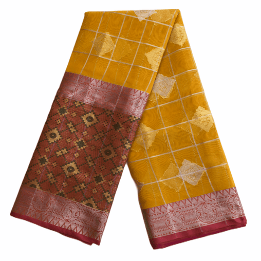 Benarasi Handloom Silky saree - with Blouse Piece - SN2001 Hp0220 - Prachy Creations