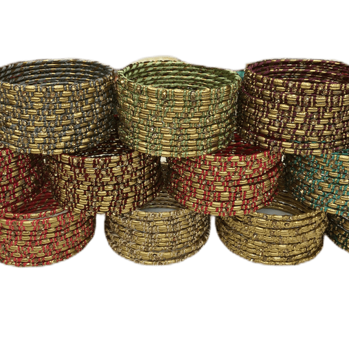 Anushka Thread Bangles - (set of 12) Bollywood, Weddings, Party - ANUSH V1219