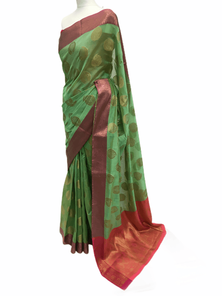 Benarasi Handloom Silky saree - with Blouse Piece - SN2009 KP0220