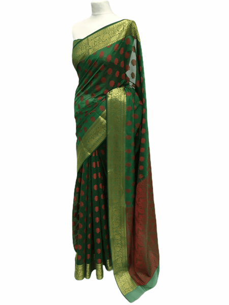 Benarasi Handloom Silky saree - with Blouse Piece - SN2007 KK0220 - Prachy Creations