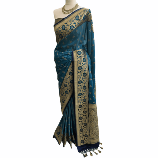 Benarasi Handloom Silky saree - with Blouse Piece - SN2019 TV0220
