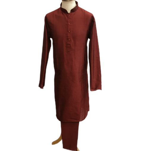 Mens Silky Maroon Kurta Sets -MIx N Match with waistcoats and Dupattas - VL1911 KV1119