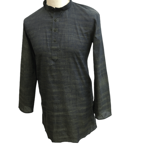 Mens Indian Dhoti Kurta Top in Navy, Thigh Length, for weddings, Bollywood Party  - Adhish Rp1219 - Prachy Creations