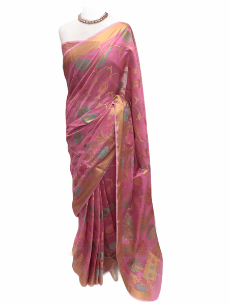 Benarasi Handloom Silky saree - with Blouse Piece - SN2013 KP0220 - Prachy Creations