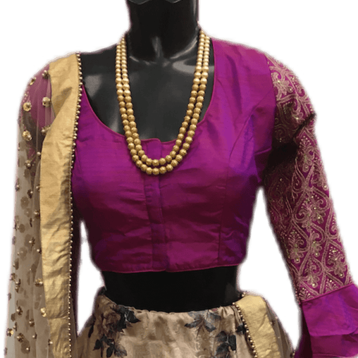 Embroidered sleeves Saree blouse - AF1942 Ap1219 - Prachy Creations