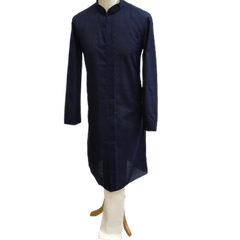 Mens Indian Kurta set in Navy blue, for weddings, Bollywood Party ( with Draw stringed trousers) - Farari KR1219 - Prachy Creations