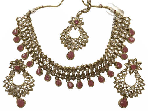 Ladies Reverse stone Choker necklace set - Bollywood - Weddings - JIG105 - KR0719 - Prachy Creations