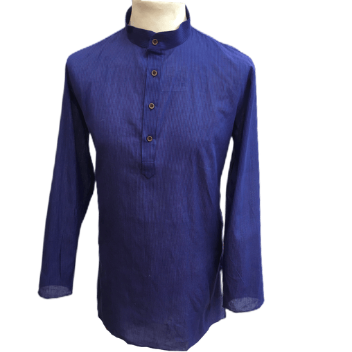 Mens Indian Dhoti Kurta Top in Blue, Thigh Length, for weddings, Bollywood Party  - Alamgir R1219 - Prachy Creations