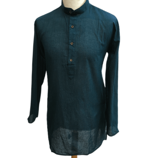 Mens Indian Dhoti Kurta Top in Teal, Thigh Length, for weddings, Bollywood Party  - Alamgir R1219