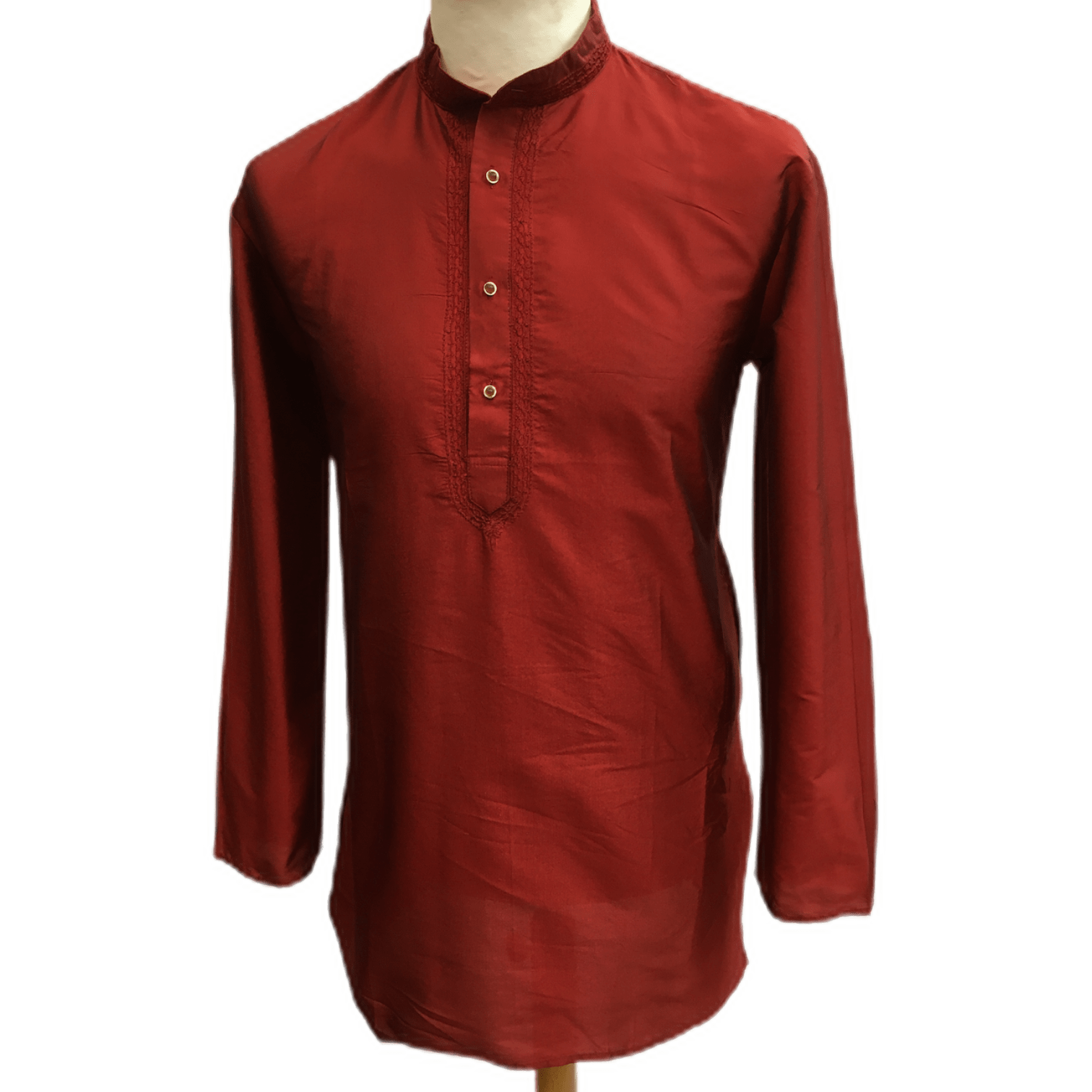 Mens Indian Dhoti Kurta Top in Maroon, Thigh Length, for weddings, Bollywood Party  - Adhish Rp1219