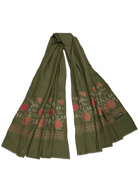 Full size Handloom woven shawl with thread work. ISQ2001 J0920