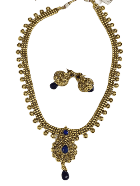 Bollywood Long necklace set - Perfect with Sarees - PR452 KY 0816 - Prachy Creations