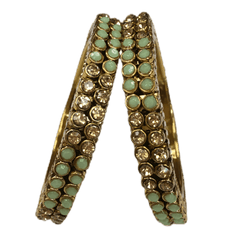Rakul Stone Kada - (set of 2) Bollywood, Weddings, Party - RAKUL V1219 - Prachy Creations