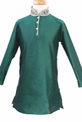 Boys Indian Kurta Set - Bollywood  - Weddings - CKB 1603J Jade - kv0716 - Prachy Creations