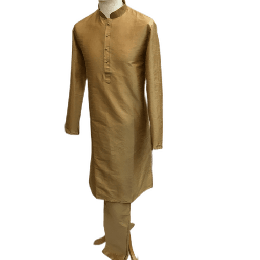 Mens Silky Gold Kurta Sets -MIx N Match with waistcoats and Dupattas - VL1912 KV1119