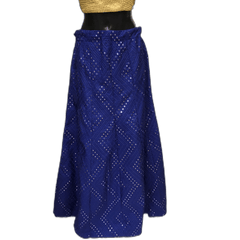 Self Embroidered Lehnga Skirt only  - Mix N Match - DCB1941 KP 0120 - Prachy Creations