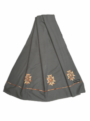 Handloom woven shawl with thread work - ISQ2002 J0920 - Prachy Creations
