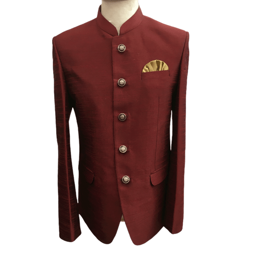 Delivery 48 hrs - Maroon Burgandy  Mens BandhGala / Nehru / Prince / Chinese Collar Jacket - Fantastic Fit - YD1930 TP1219