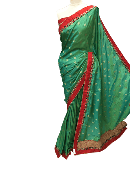 Handloom brocade saree with blouse pcs - DRF5017TV 0218