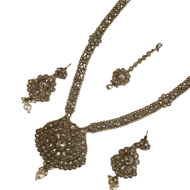 Reverse stone Choker necklace set - Bollywood - Weddings - LNA364- KJ0719 - Prachy Creations