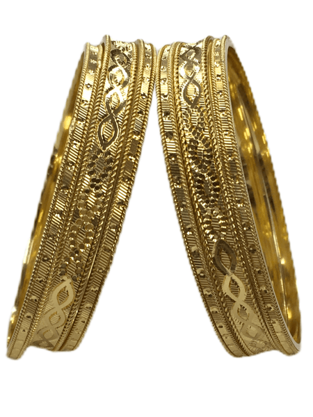 Gold Finish Bangles (Set of 6) - V 0320 SHR2009