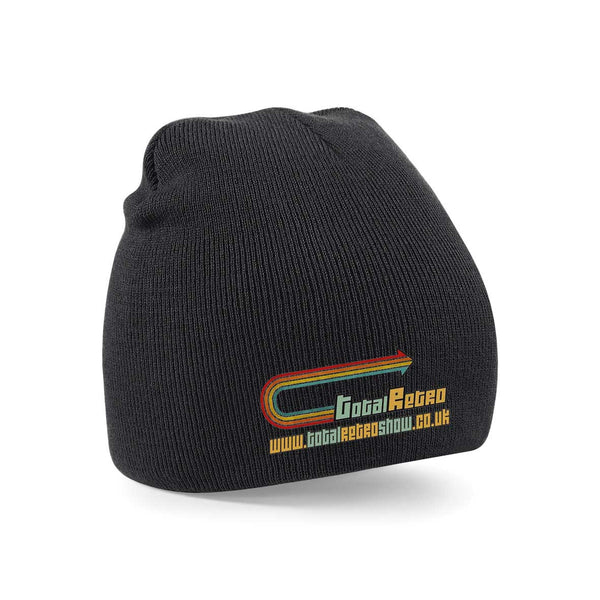 Total Retro Beanie Hat With Embroidery