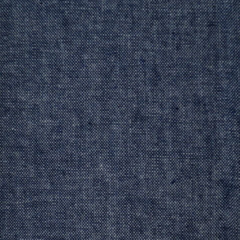 Dark Navy Blue Chambray Cotton Shirting