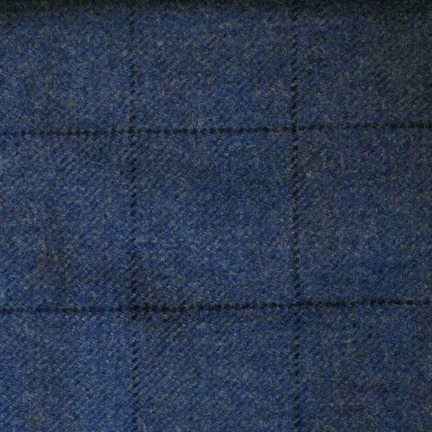 Blue with Blue Check Tweed