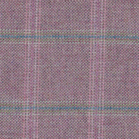 Pink & Green with Blue & Pink Check Tweed