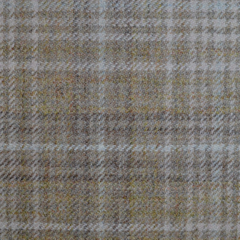 Brown, Beige & Cream Multi Check Tweed