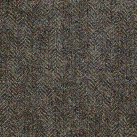 Moss Green with Brown Herringbone Tweed