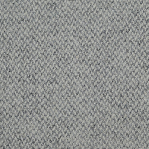 Light Grey Barleycorn Weave Wool Tweed