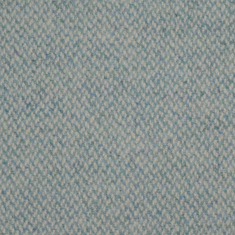 Light Blue Barleycorn Weave Wool Tweed