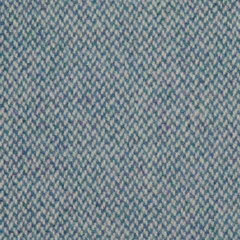 Denim Blue Barleycorn Weave Wool Tweed