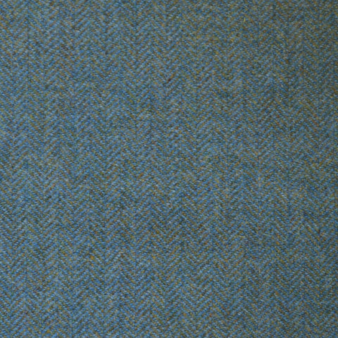 Light Blue & Sea Green Herringbone Tweed